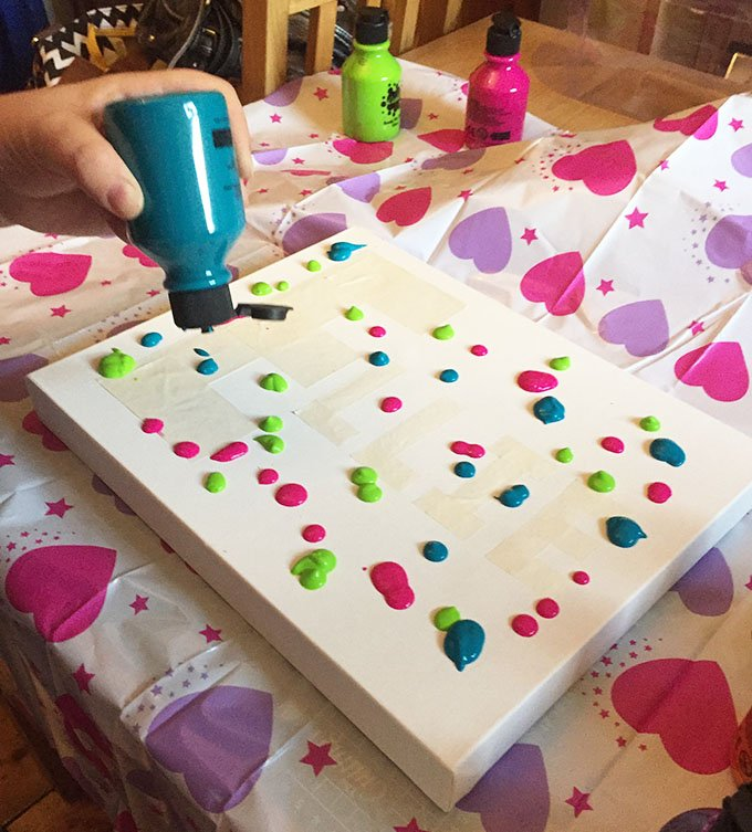 Blobs of paint